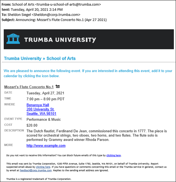 Trumba Help: Calendar and event email: An overview