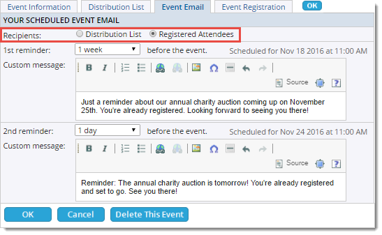 Trumba Help Event announcements and reminders – Reminder Email