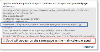 Spud Code With Teaserbase Highlighted