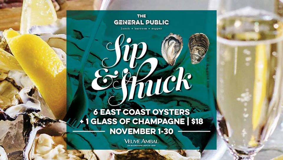 Sip & Shuck at The General Public