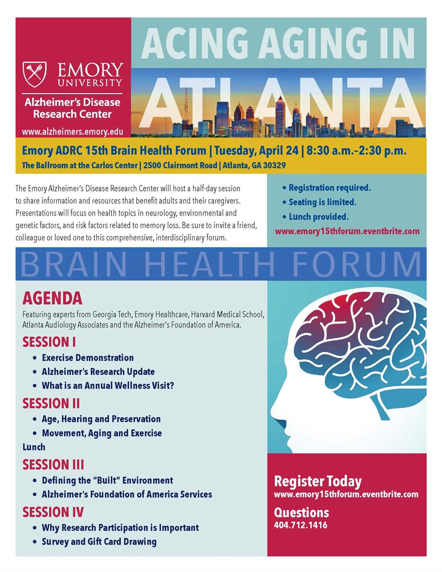 Emory ADRC 15th Brain Health Forum