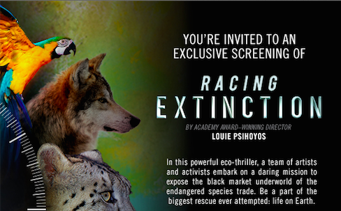 "Special Screening: ""Racing Extinction"" Documentary"