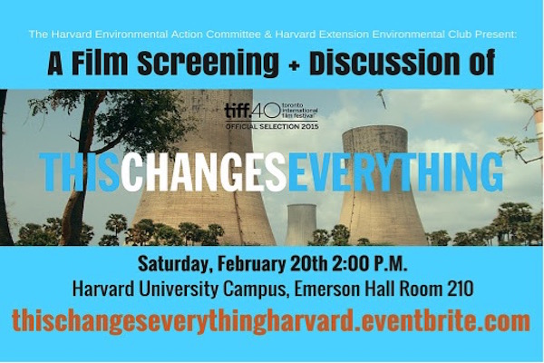 This Changes Everything: A Film Screening + Discussion