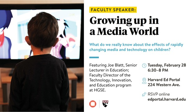 Faculty Speaker: Growing Up in a Media World