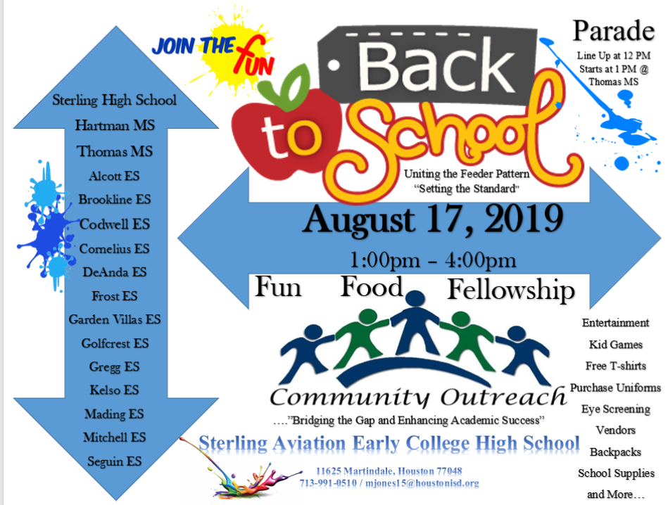 Back to School Parade and Community Outreach