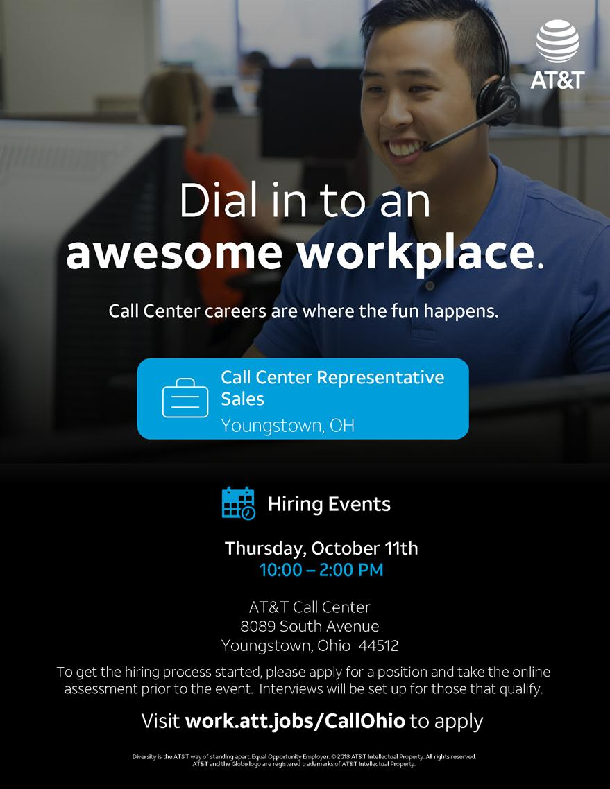 AT&T Customer Service Representative Sales Priority Hiring Event