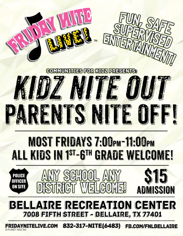 Parents Night Out Program in Bellaire