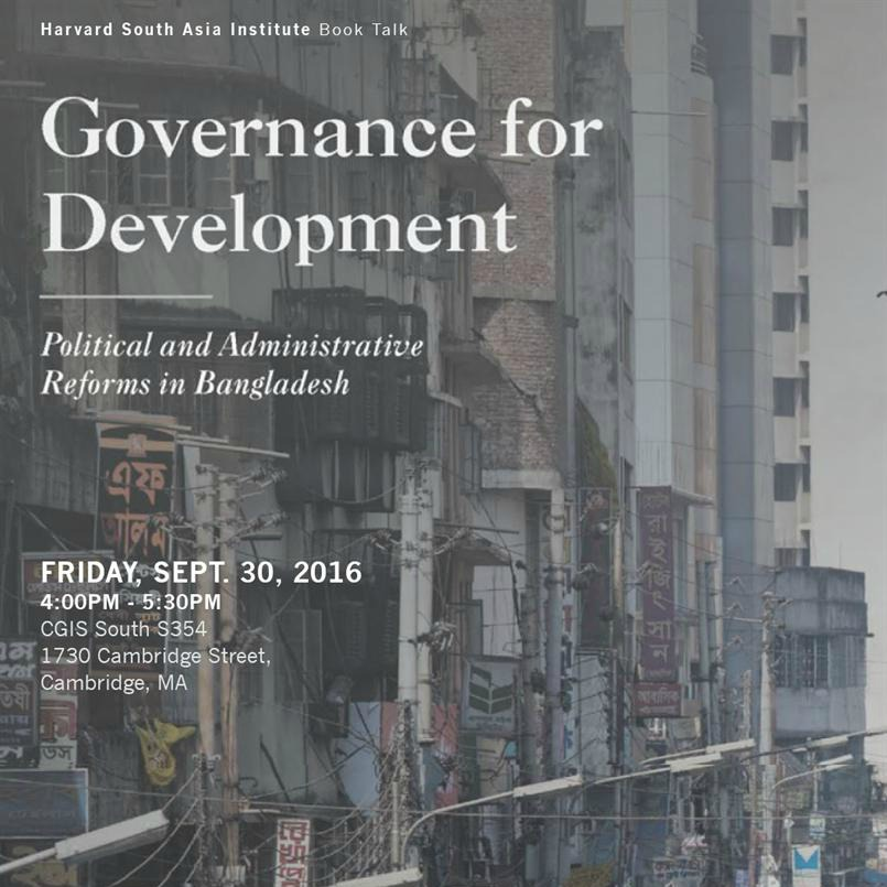Governance for Development — Political and Administrative Reforms for Bangladesh