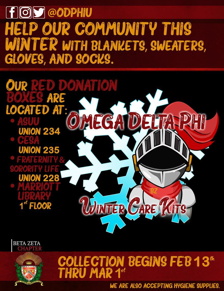 Omega Delta Phi - Winter Care Kits