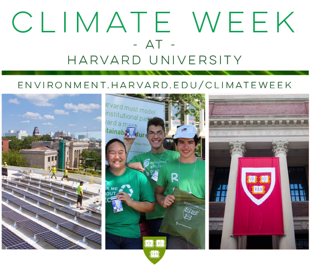 "Climate Week | ""Achieving Harvard's Science-based Climate Goal"""