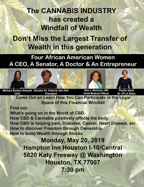 CANNABIS, THE LARGEST TRANSFER OF HEALTH & WEALTH IN THIS GENERATION