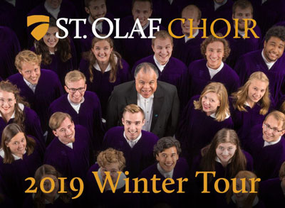 <b><font color = red>SOLD OUT</font color = red><br><br> St. Olaf Choir<br><br>  <b><font color = red>Choral Balcony Seating available at 7 p.m.