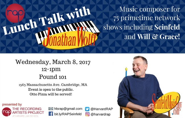 """RAP Presents: Lunch Talk with the """"Seinfeld Music Guy"""""""