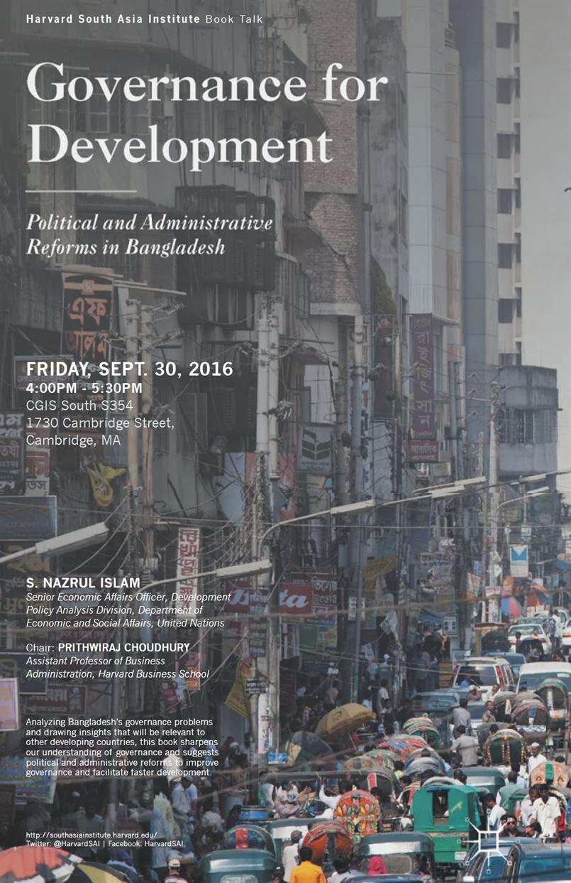 Governance for Development — Political and Administrative Reforms for Bangladesh