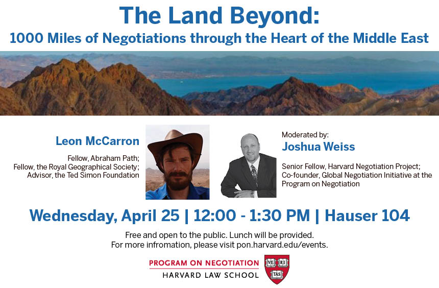 The Land Beyond: 1000 Miles of Negotiations through the Heart of the Middle East