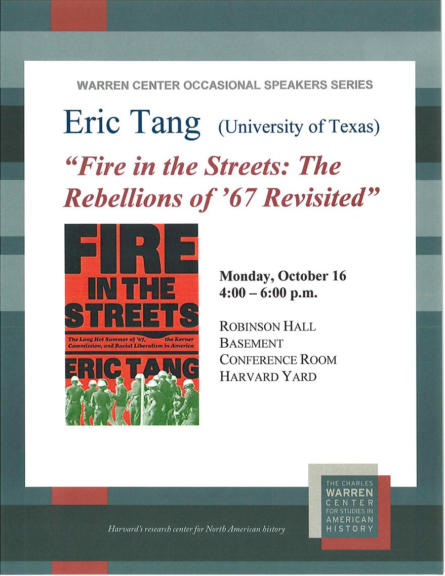 Fire in the Streets: The Rebellions of '67 Revisited