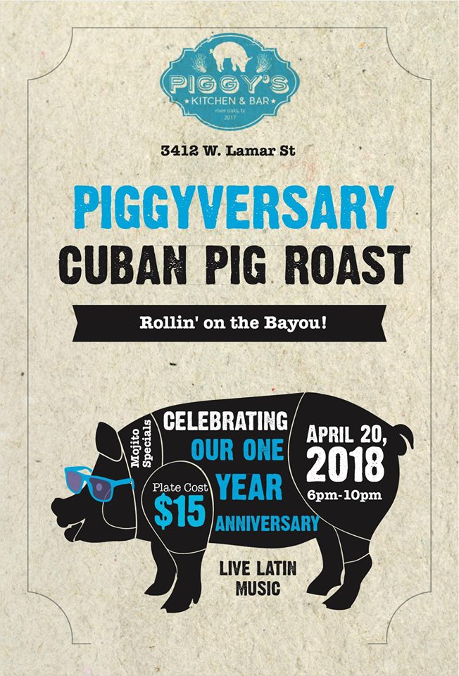 Piggyversary - Cuban Pig Roast - Rollin' on the Bayou