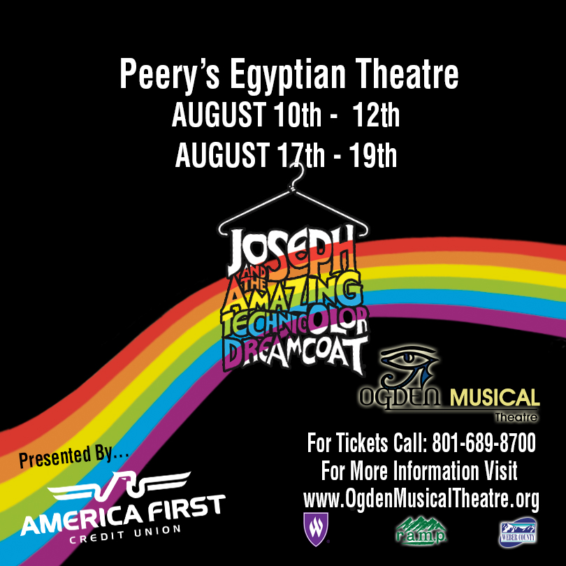 America First Credit Union presents Ogden Musical Theatre's production of Joseph and the Amazing Technicolor Dreamcoat