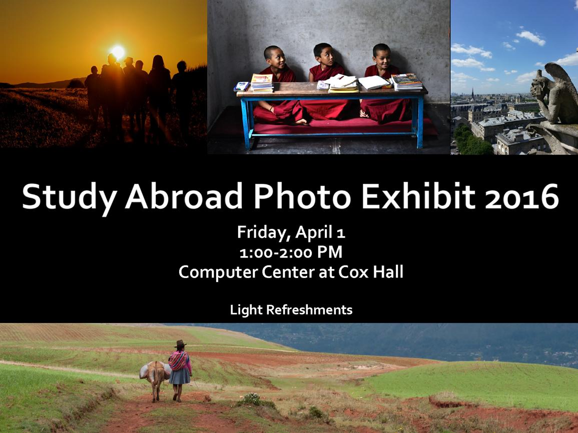 Study Abroad Photo Exhibition