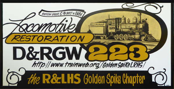 Locomotive Restoration Project - 223 Narrow Gauge