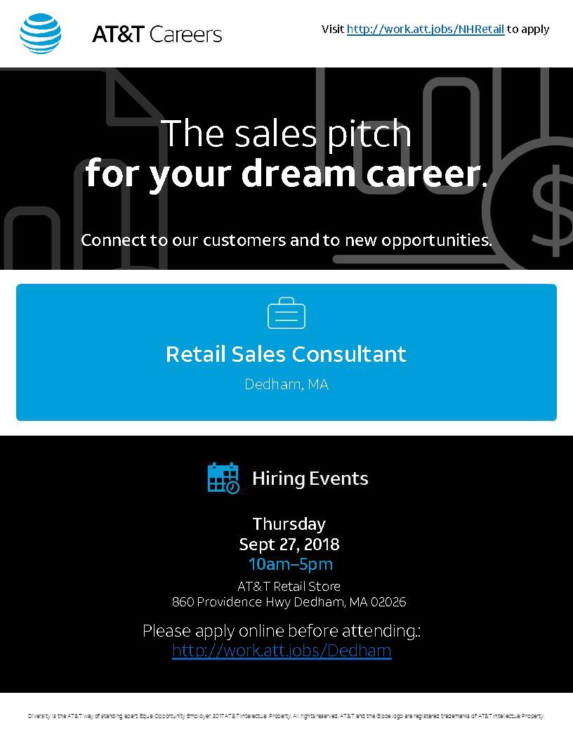 AT&T Priority Hiring Event-Dedham, MA