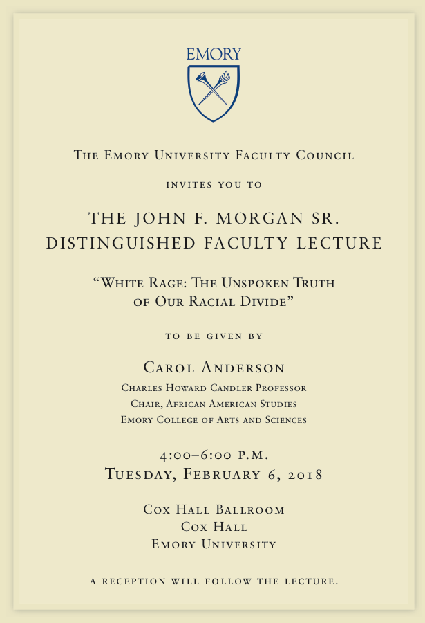 The John F. Morgan Sr. Distinguished Faculty Lecture