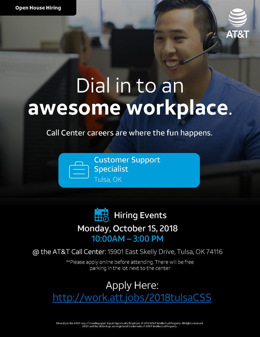 AT&T Hiring Event in Tulsa, OK