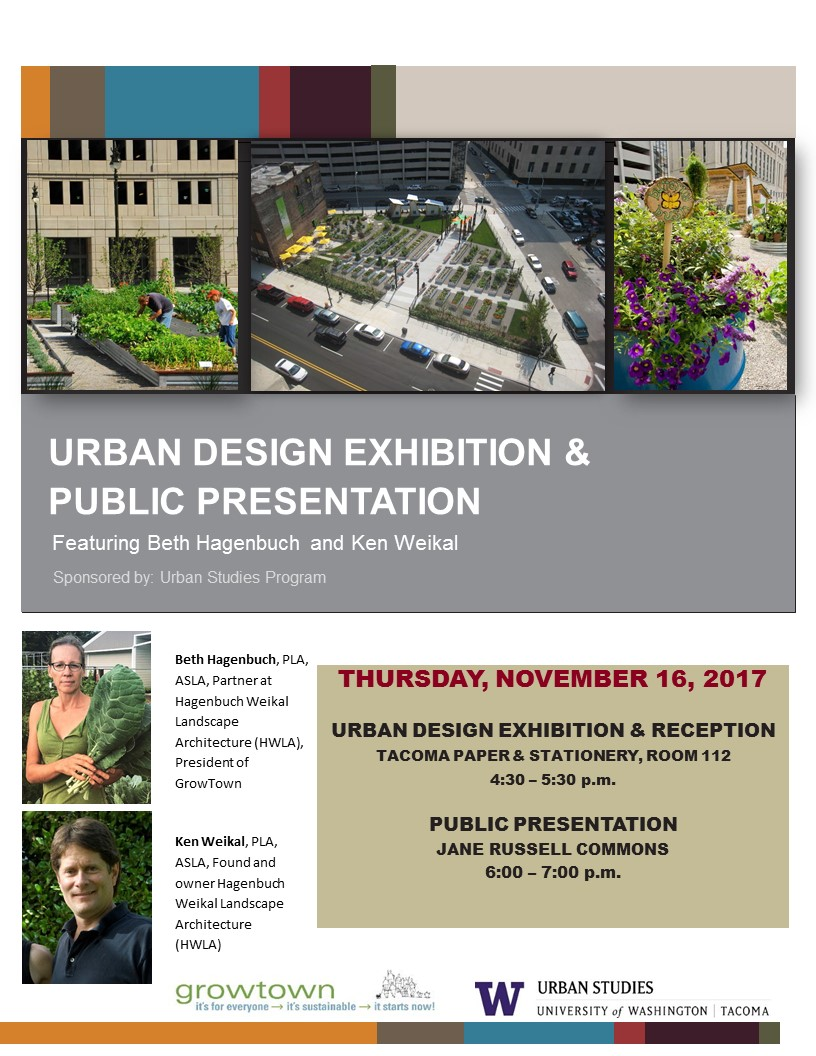 UWT Urban Design Exhibition & Public Presentation