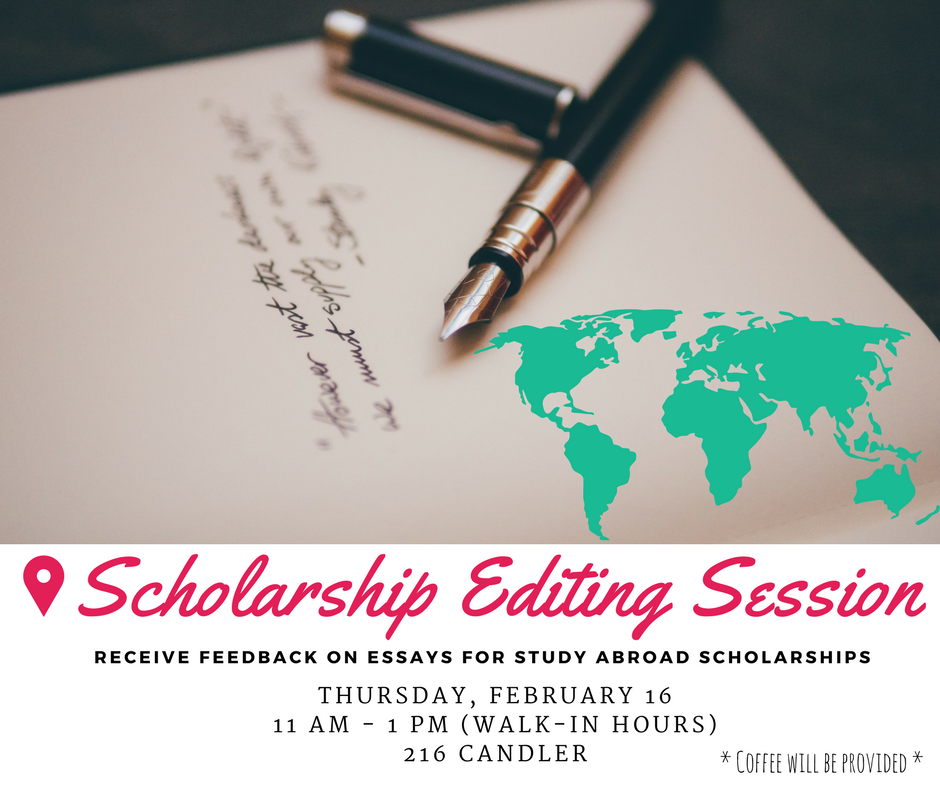 scholarship essays for study abroad The benjamin a gilman international scholarship is a grant that is offered by the us department of state to support undergraduate students to study and intern abroad.