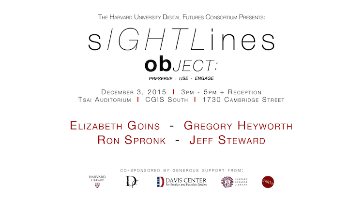 Sightlines: obJECT