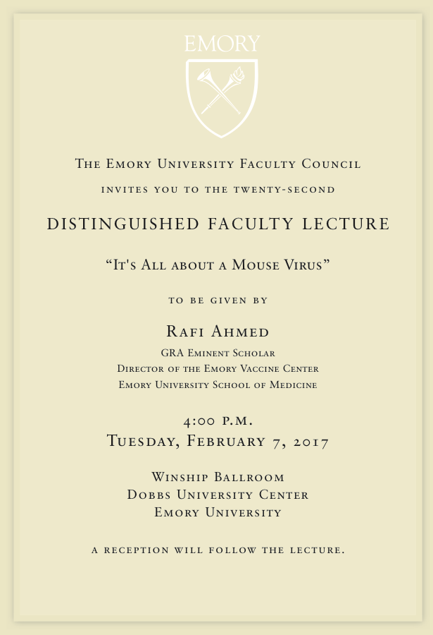 Distinguished Faculty Lecture