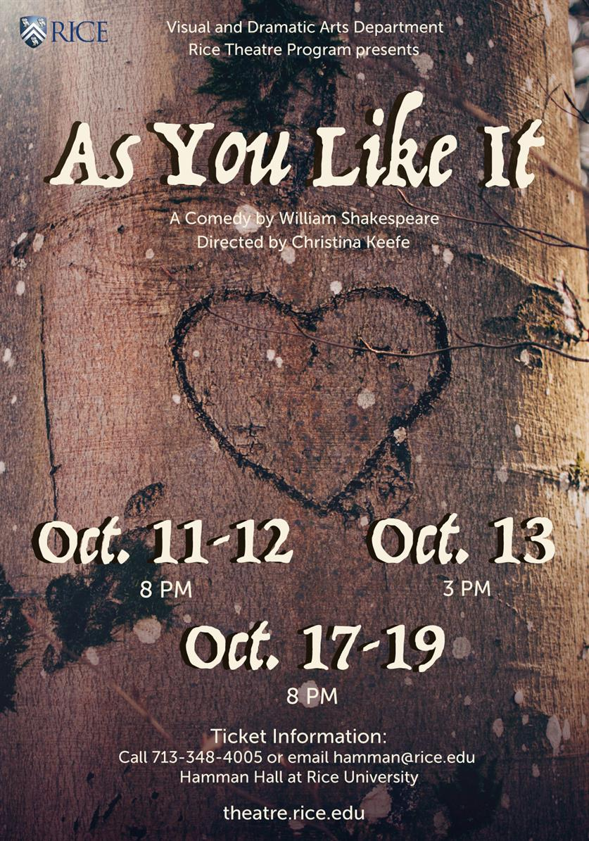 """""""As You Like It"""""""