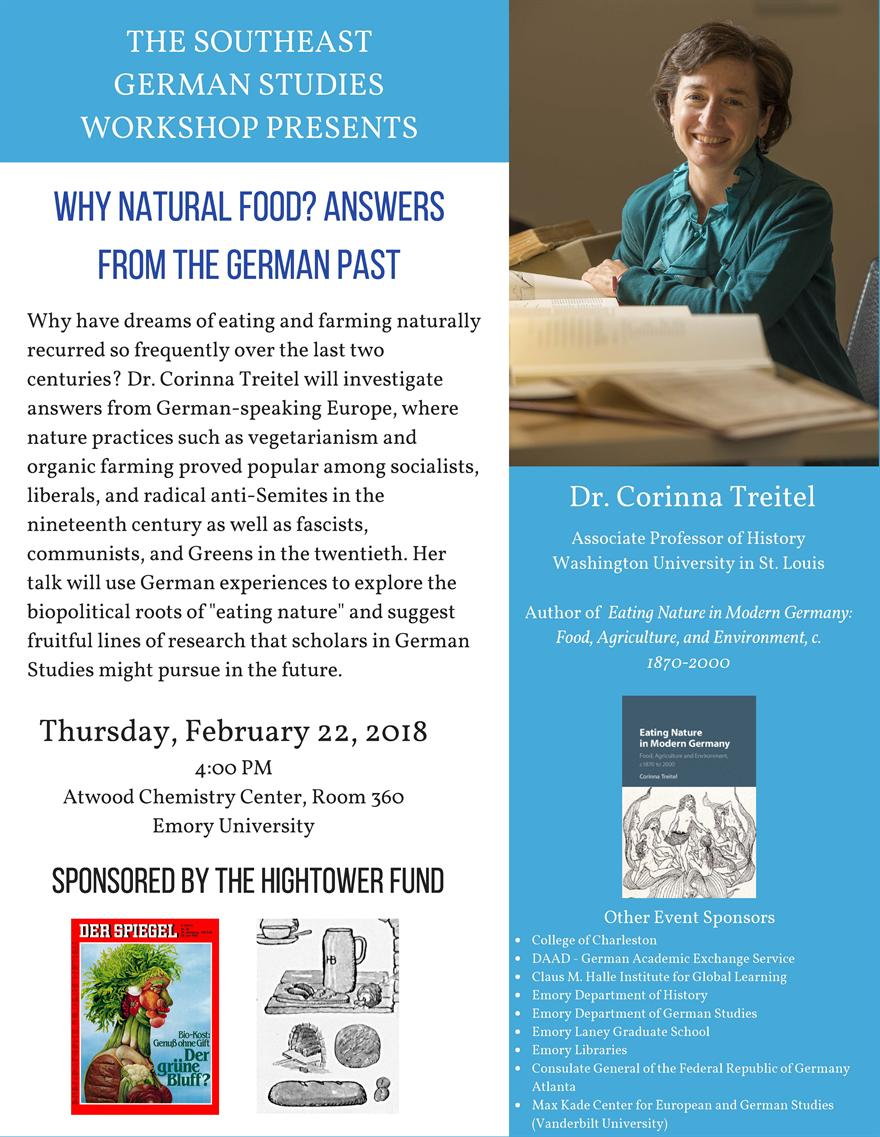 """""""Why Natural Food? Answers from the German Past"""""""