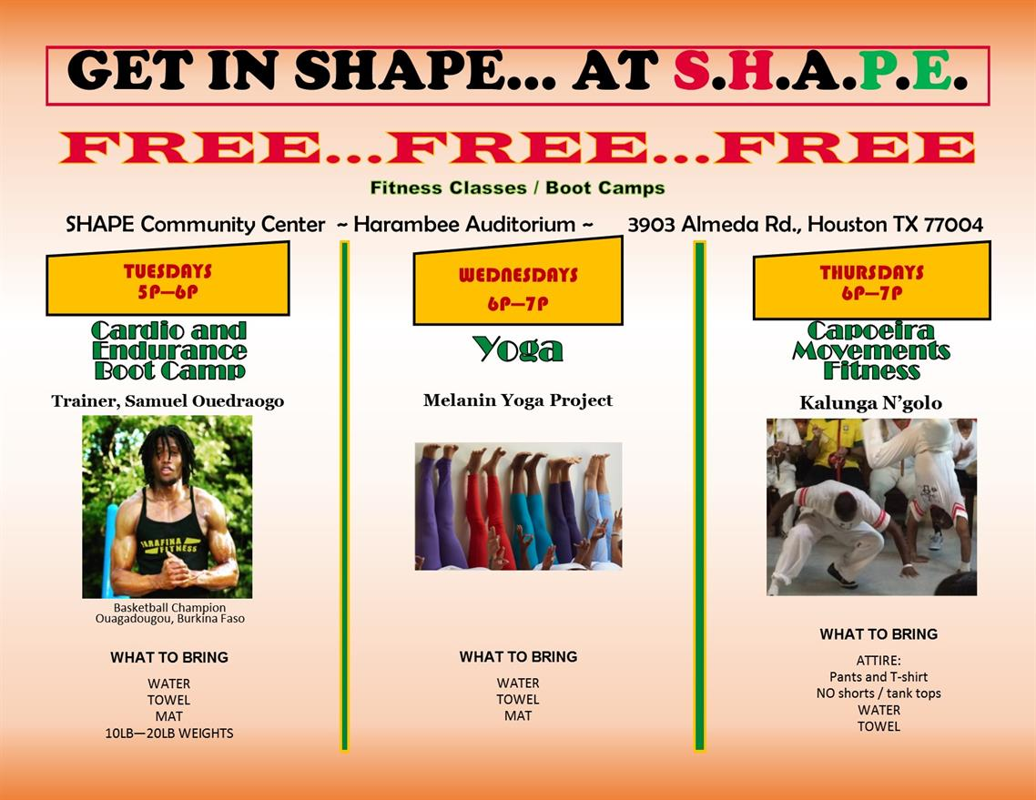 Get In Shape... At S.H.A.P.E.