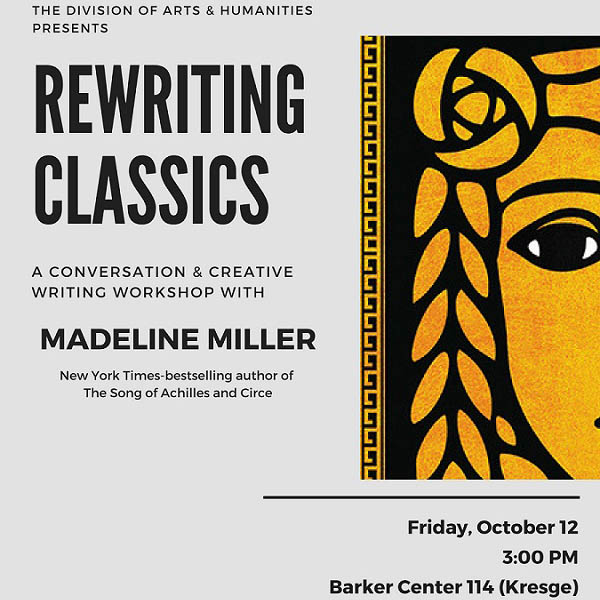 Rewriting Classics with author Madeline Miller