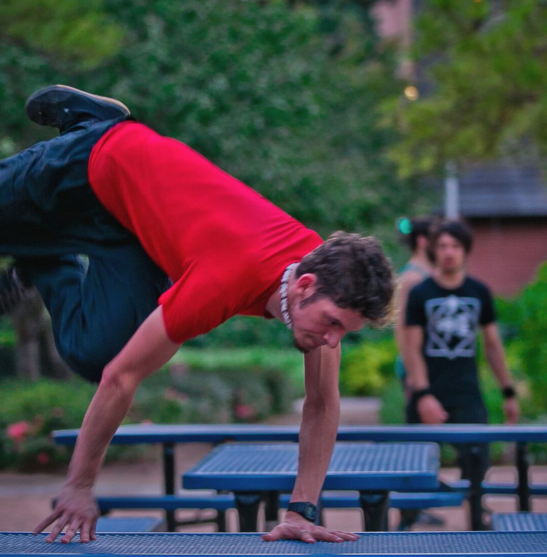 Parkour at Discovery Green