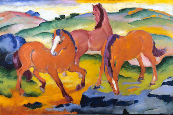 Franz Marc's 'Grazing Horses IV,' back on view