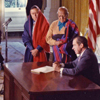 Signing ceremony for HR 471 lands at or near Blue Lake, New Mexico, to Taos Pueblo Indians, December 15, 1970. Photo courtesy of the Richard Nixon Presidential Library.
