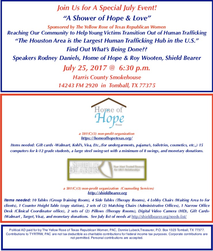 """A Shower of Hope & Love"" benefitting Human Trafficking Victims"