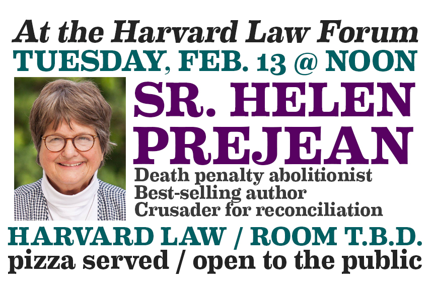 Sr. Helen Prejean at the Harvard Law Forum