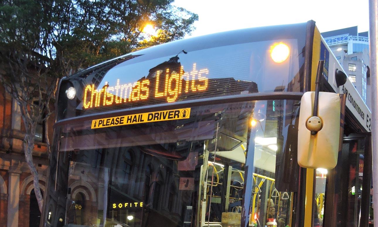 Christmas Lights bus tours - northern suburbs