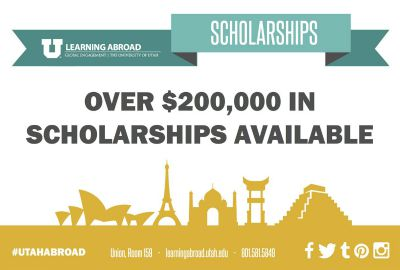 LEARNING ABROAD DEADLINE: Fall, Fall Break, & Academic Year SCHOLARSHIP Applications