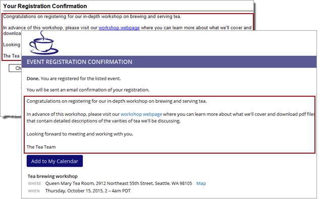 Trumba help set up event registration confirmation email success message stopboris Gallery