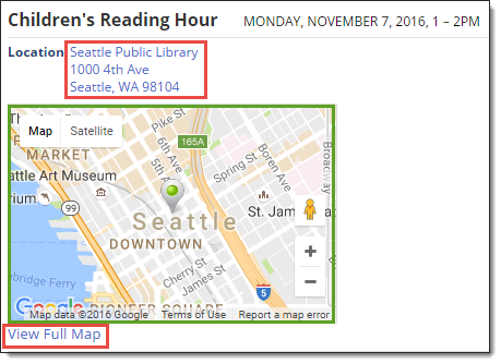 Trumba Help Add Map Links To Events - Add location on map