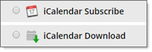 iCalendar feed and file options