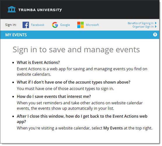 Trumba Help: Customize the Event Actions web app