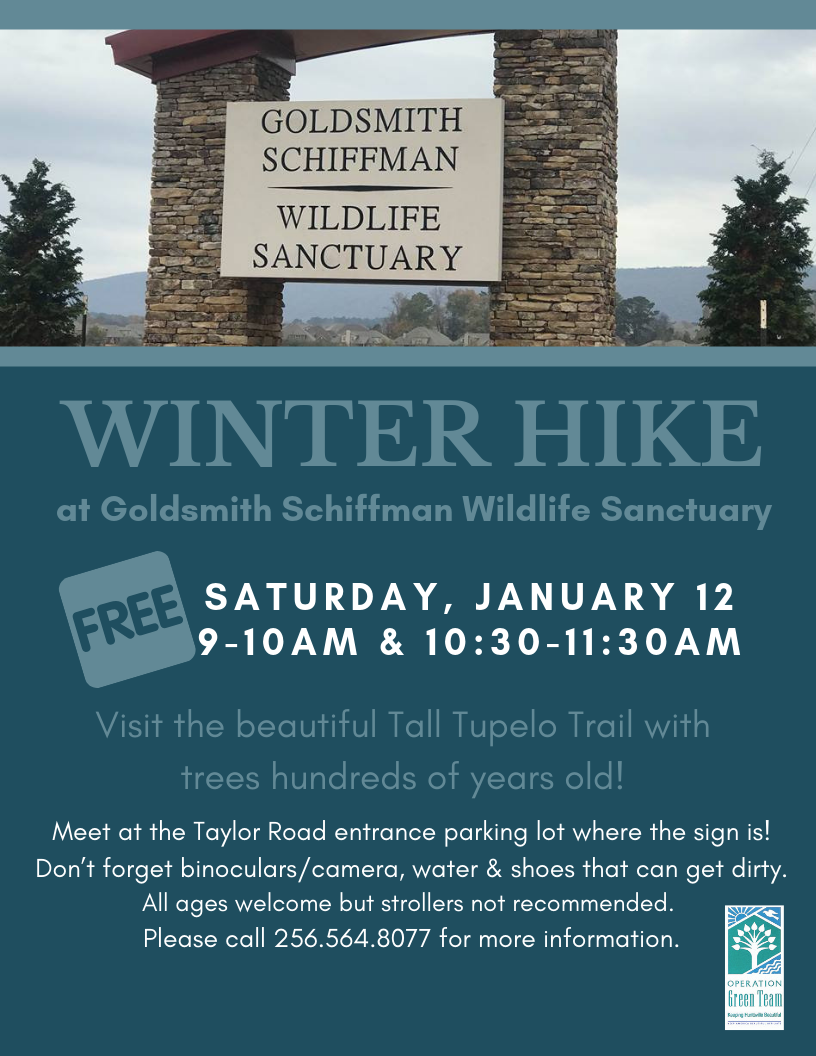 Winter Hike - Goldsmith Schiffman Wildlife Sanctuary