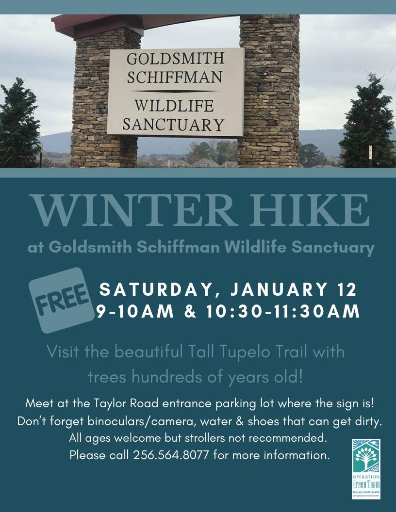 Winter Hike - Goldsmith Schiffman Wildlife Sanctuary