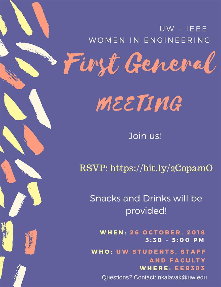 IEEE Women in Engineering - First General Meeting