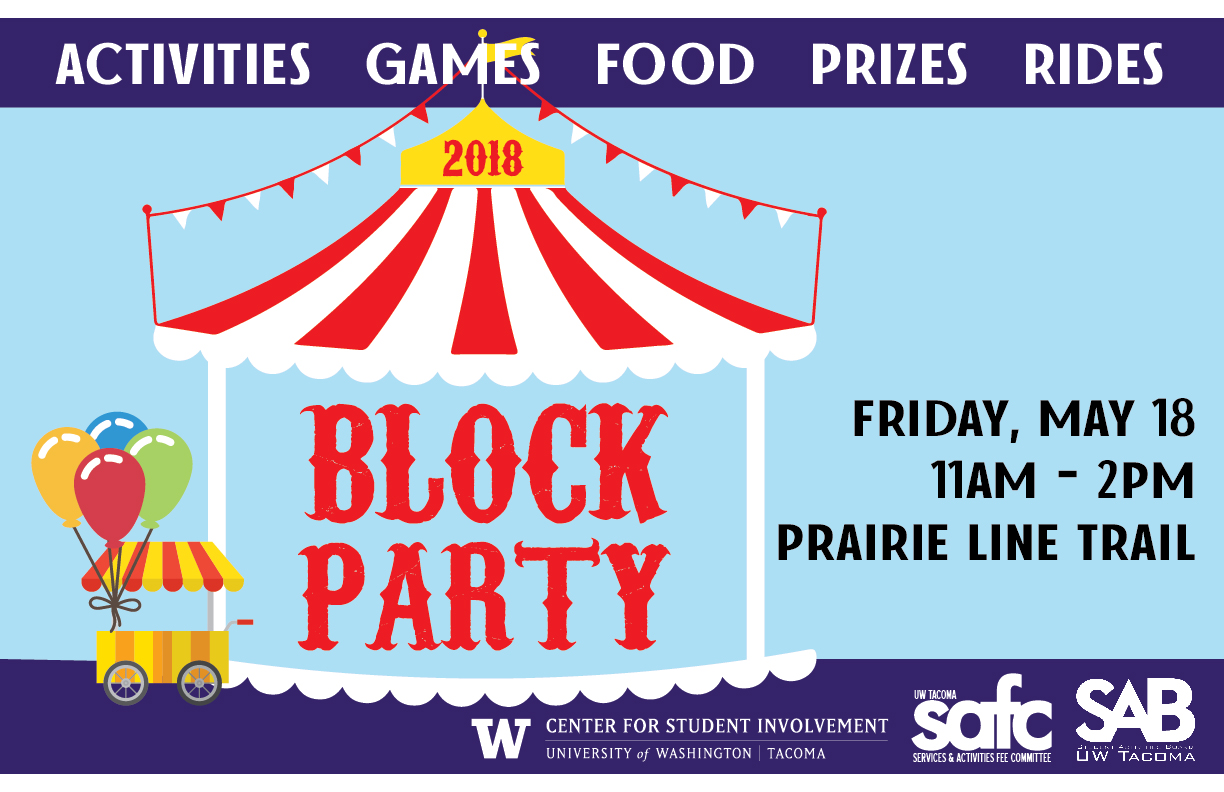 Block Party 2018! May 11, 2018, 11am to 3pm